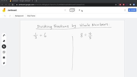 Thumbnail for entry Dividing Fractions and Mixed Numbers