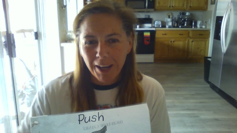 Thumbnail for entry Occupational Therapy from Ms Toni -PUSH - How to do it