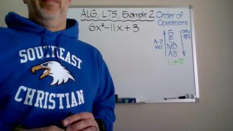 Thumbnail for entry Algebra 1, Lesson 75, Example 2