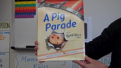 Thumbnail for entry Mrs. Reding reading A Pig Parade.MP4