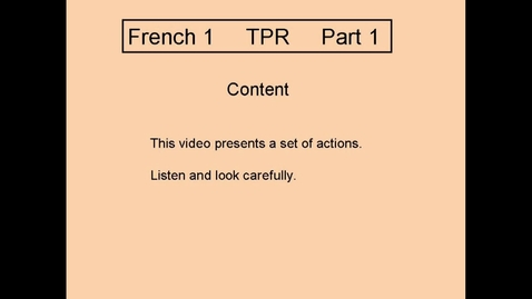 Thumbnail for entry TPR L1 Part 1 Presentation of Content