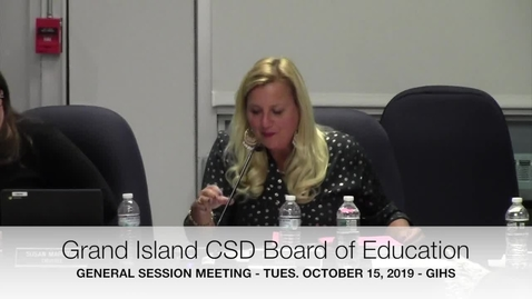 Thumbnail for entry Grand Island BOE Meeting 10-15-2019