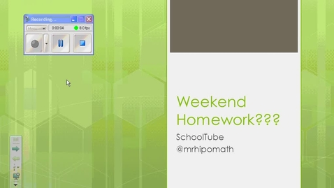 Thumbnail for entry Weekend Homework???