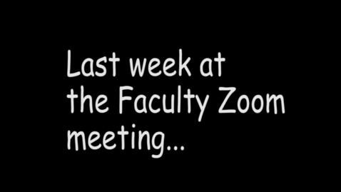 Thumbnail for entry Faculty Zoom Pranks