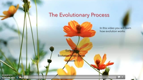 Thumbnail for entry Evolutionary Process