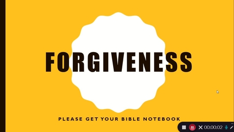 Thumbnail for entry Forgiveness 2