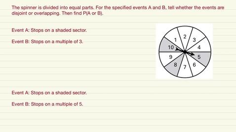 Thumbnail for entry Pre Algebra Disjoint/Overlapping Review