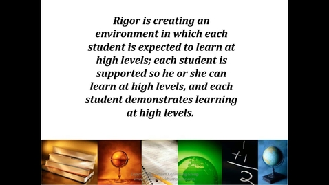Thumbnail for entry Free PD Webinar: Rigor is NOT a Four-Letter Word:  Reaching Higher Levels of Learning
