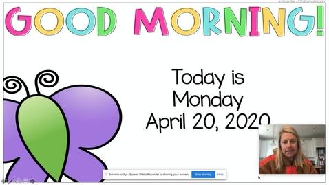 Thumbnail for entry Morning Meeting April 20