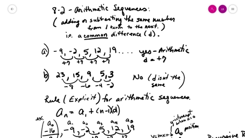 Thumbnail for entry alg2 8-2 A arithmetic sequences