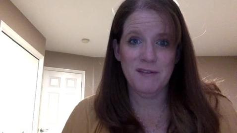 Thumbnail for entry Mrs. Holman Morning Message 3/18/20