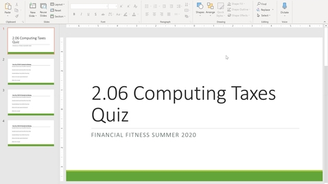 Thumbnail for entry Financial Fitness Quiz 2.06 Instructional Video