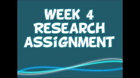 Thumbnail for entry Research Assignment Overview