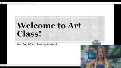 Thumbnail for entry Welcome to Art Class_ First Day syllabus and presentation