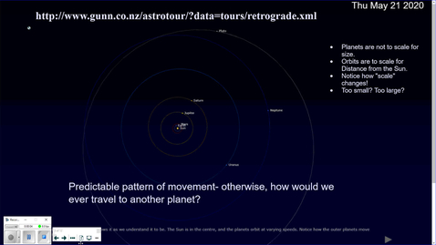 Thumbnail for entry 0-6. Solar System to Scale for Distance from the Sun