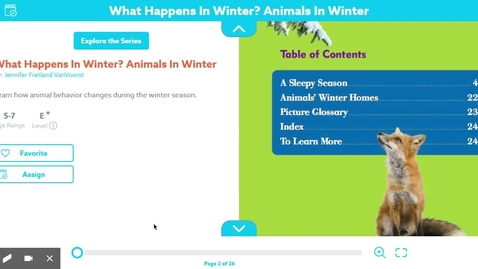 Thumbnail for entry Animals in Winter