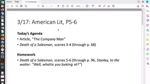 Thumbnail for entry 3.17 American Lit, Company Man
