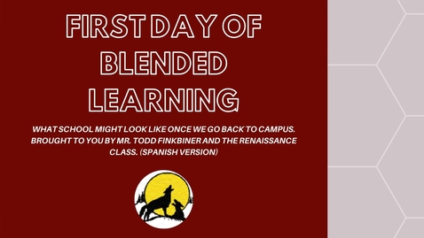 Thumbnail for entry FIRST DAY OF BLENDED LEARNING CHJH 2020-2021 Spanish Version