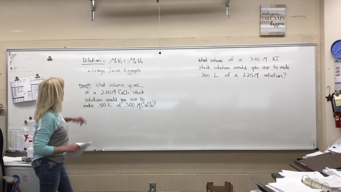 Thumbnail for entry Dilutions (MCHS Chemistry Lesson)