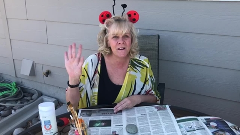 Thumbnail for entry 4/1/20 Craft with Miss Stephanie-Ladybug rocks