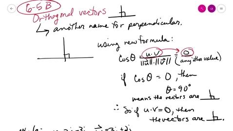 Thumbnail for entry trig 6-5 B orthogonal