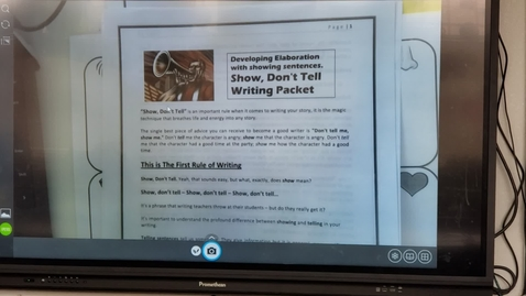 Thumbnail for entry 6th Grade Writing, Tuesday,  March 31