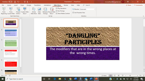 Thumbnail for entry Dangling Participles