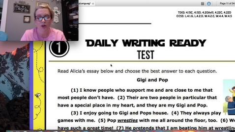 Thumbnail for entry WritingTest:Reading Test