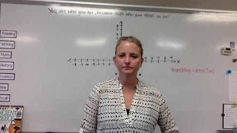 Thumbnail for entry Monday, May 11 - Translating Figures on a Coordinate Plane
