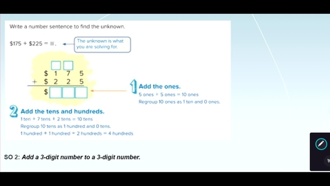 Thumbnail for entry 3-digit Plus 3-digit Addition with Regrouping