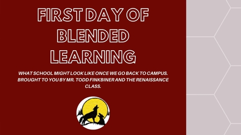 Thumbnail for entry FIRST DAY OF BLENDED LEARNING CHJH 2020-2021