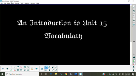 Thumbnail for entry Vocabulary Unit 15 Introduction