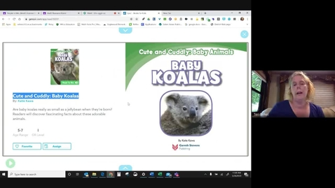 Thumbnail for entry Baby Koalas - Mrs. Birkel