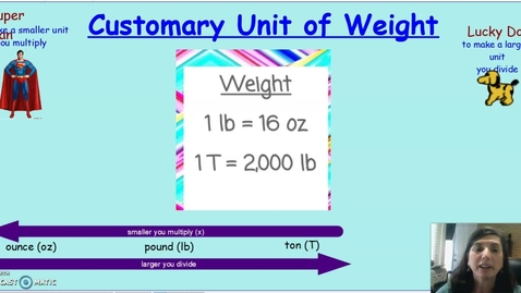 Thumbnail for entry weight lesson