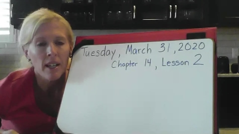 Thumbnail for entry Math Tuesday,Chapter 14 Lesson 2 March 31