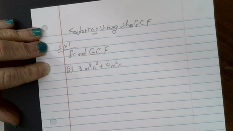 Thumbnail for entry Factoring using the GCF