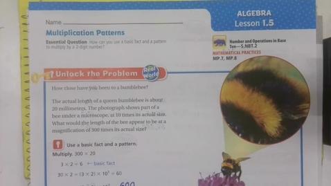 Thumbnail for entry Math 1.5 Thursday September 3 - 5th Grade