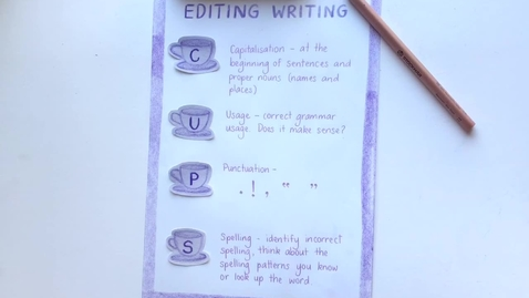 Thumbnail for entry Editing writing using CUPS