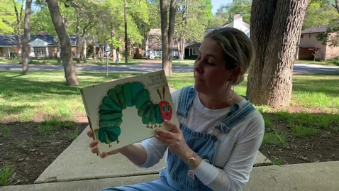 Thumbnail for entry The Very Hungry Caterpillar reading