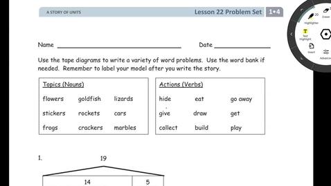Thumbnail for entry Problem Set Lesson 22