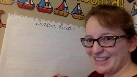 Thumbnail for entry Cursive Practice - Sentences 1 - 3
