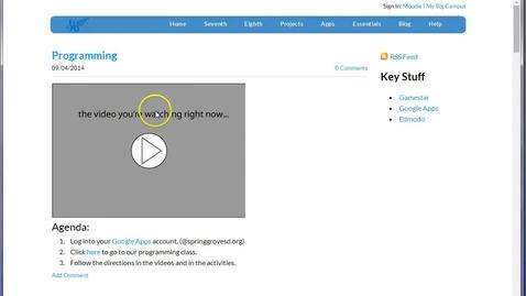 Thumbnail for entry Programming start
