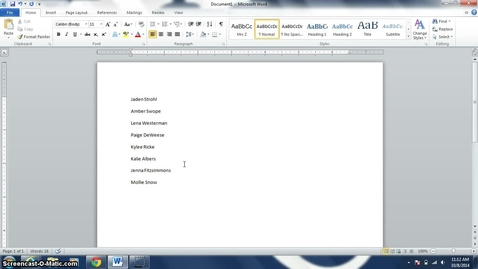 Thumbnail for entry Sort and Use Hanging Indent in Word 2010