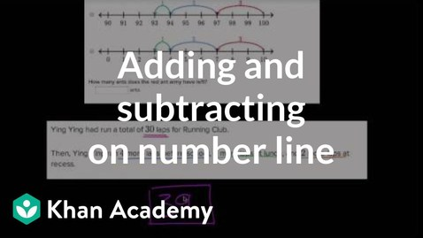 Thumbnail for entry Adding and subtracting on number line word problems | Early Math | Khan Academy