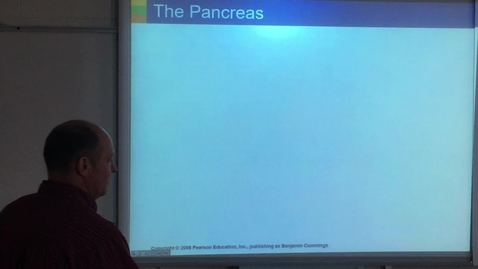 Thumbnail for entry Lecture - Pancreas