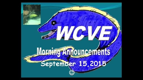 Thumbnail for entry Mrs. Leis: Morning Announcements 9/15/15