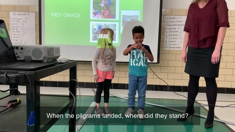 Thumbnail for entry First graders tell Thanksgiving-related jokes, Crystal Lawns ES