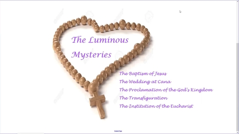 Thumbnail for entry The Luminous Mysteries Day 6