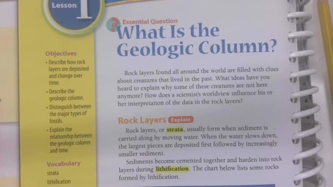 Thumbnail for entry 6th Grade Science - Fossils and the Geologic Column - Tuesday May 19