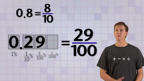 Thumbnail for entry Math Antics - Converting Base-10 Fractions